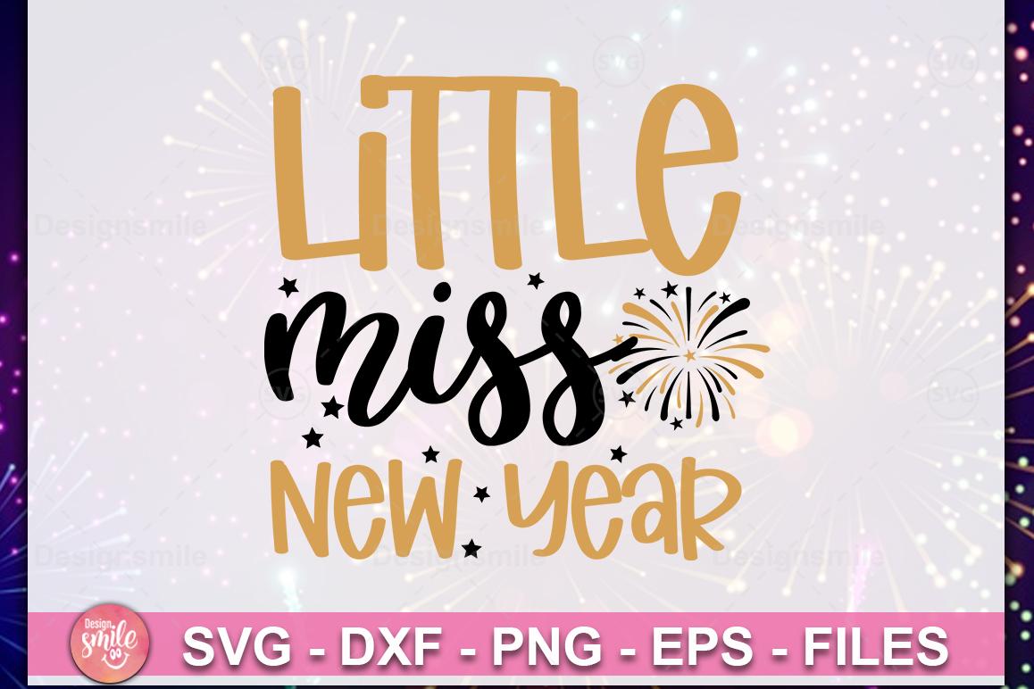 Little Miss New Year SVG| New Year SVG| New Year 2020 example image 1