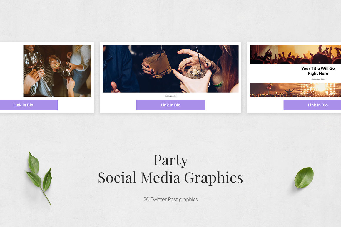 Party Twitter Posts example image 2