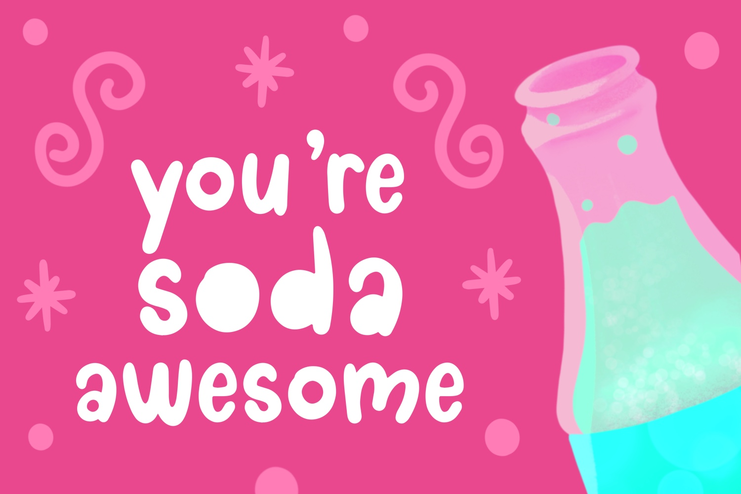 Doodle pop - a cute interchangeable lowercase font duo example image 2