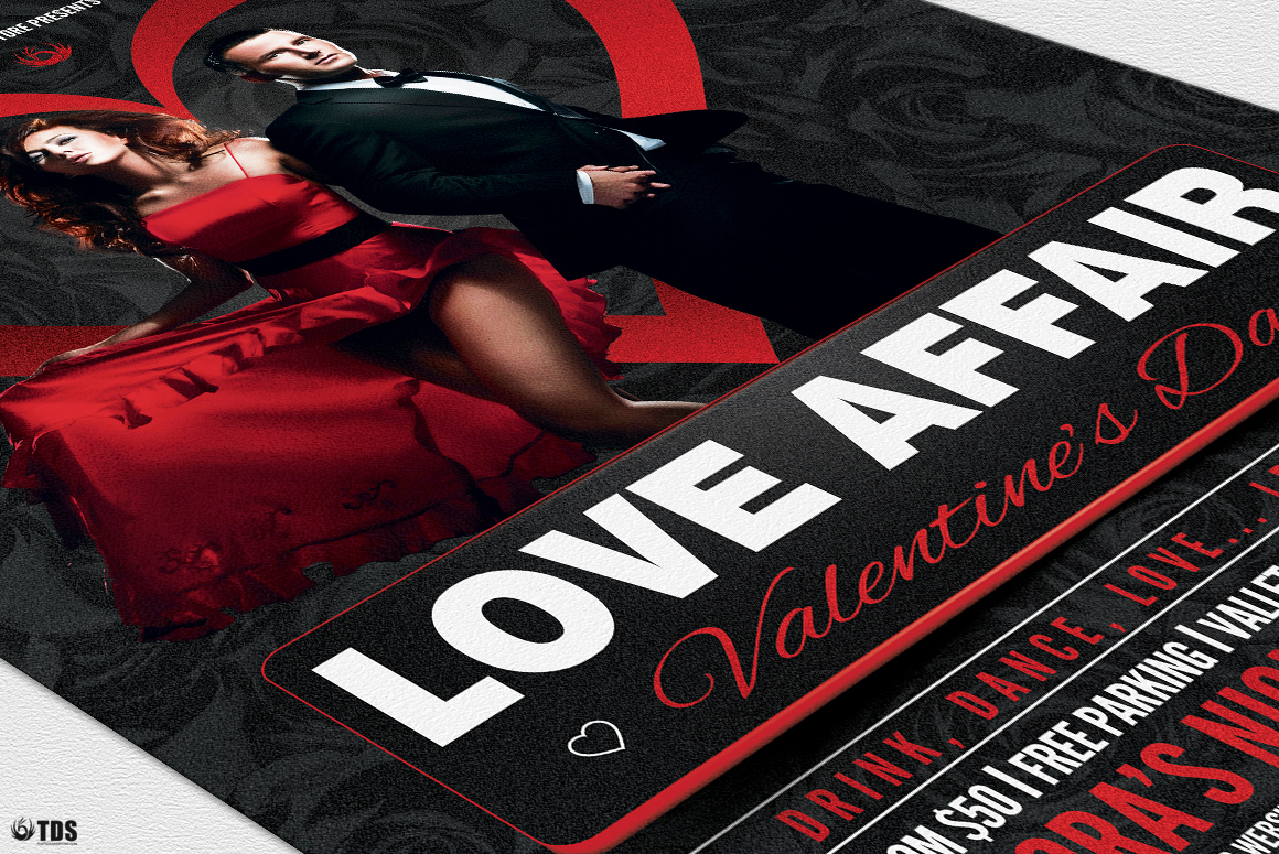 Valentines Day Flyer Template V1 example image 6
