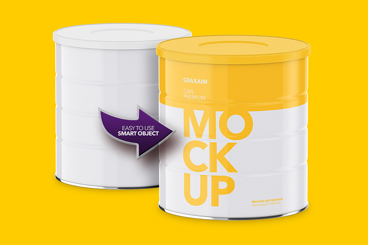 Milk Powder Can - High Angle Mockup example image 3
