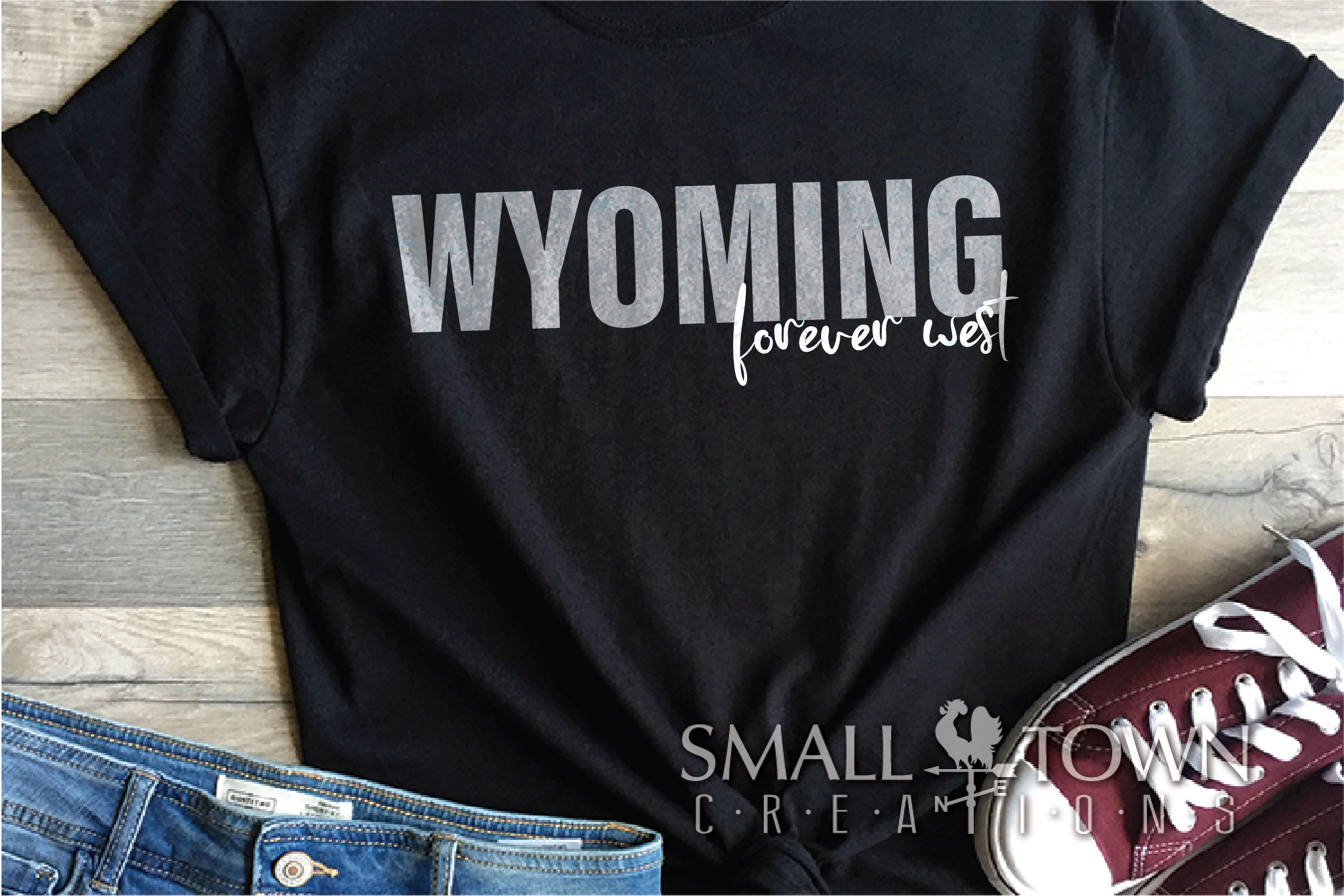 Wyoming, Forever West - slogan, Logo, PRINT, CUT & DESIGN example image 4