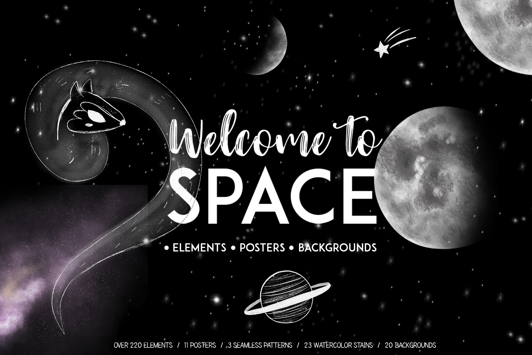 Galaxy space. Welcome to clipart set