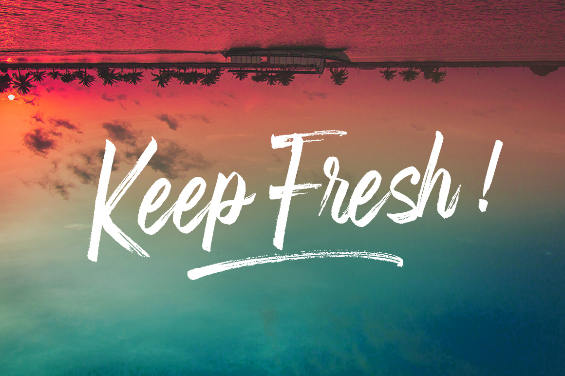 Fronds Getturing Brush Font example image 2