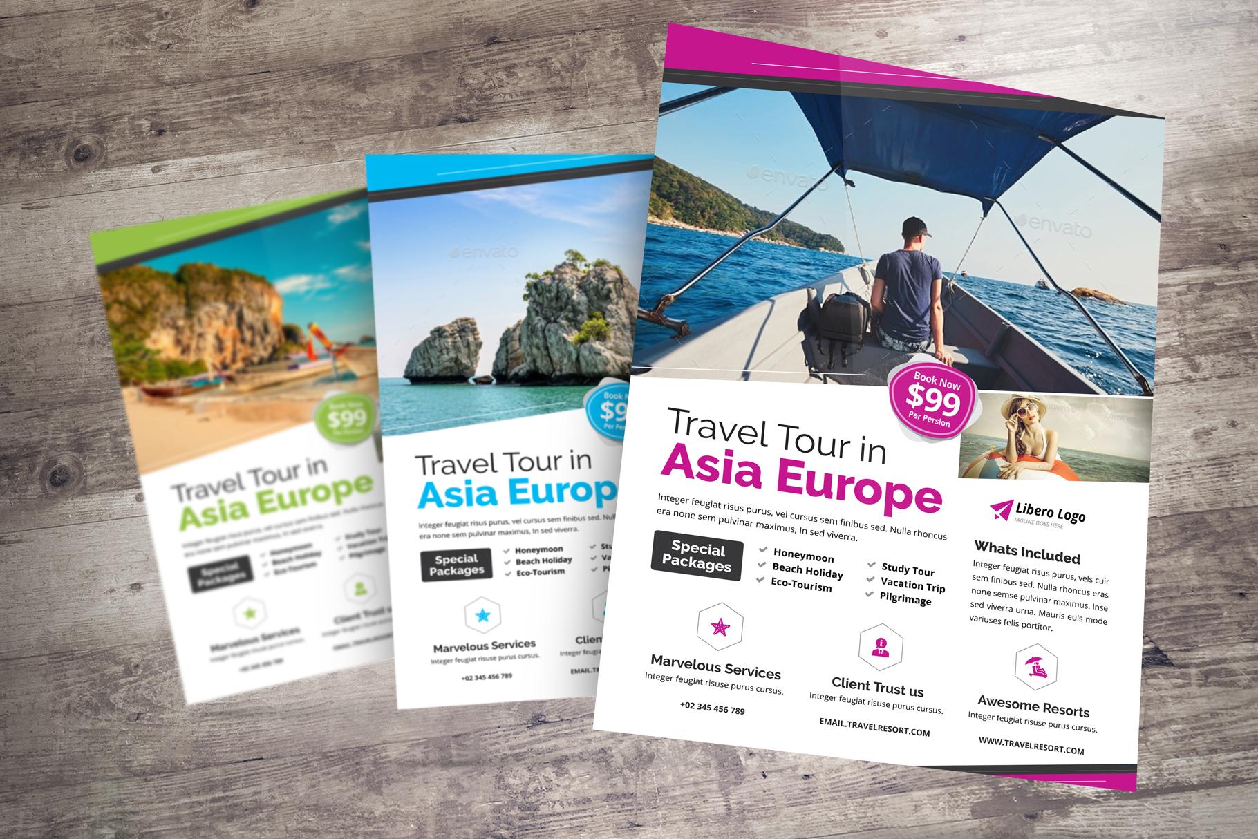 Travel Resort Flyer Design v2 example image 4