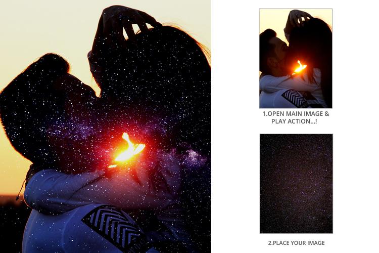 Multiple Exposure Photoshop Action example image 4