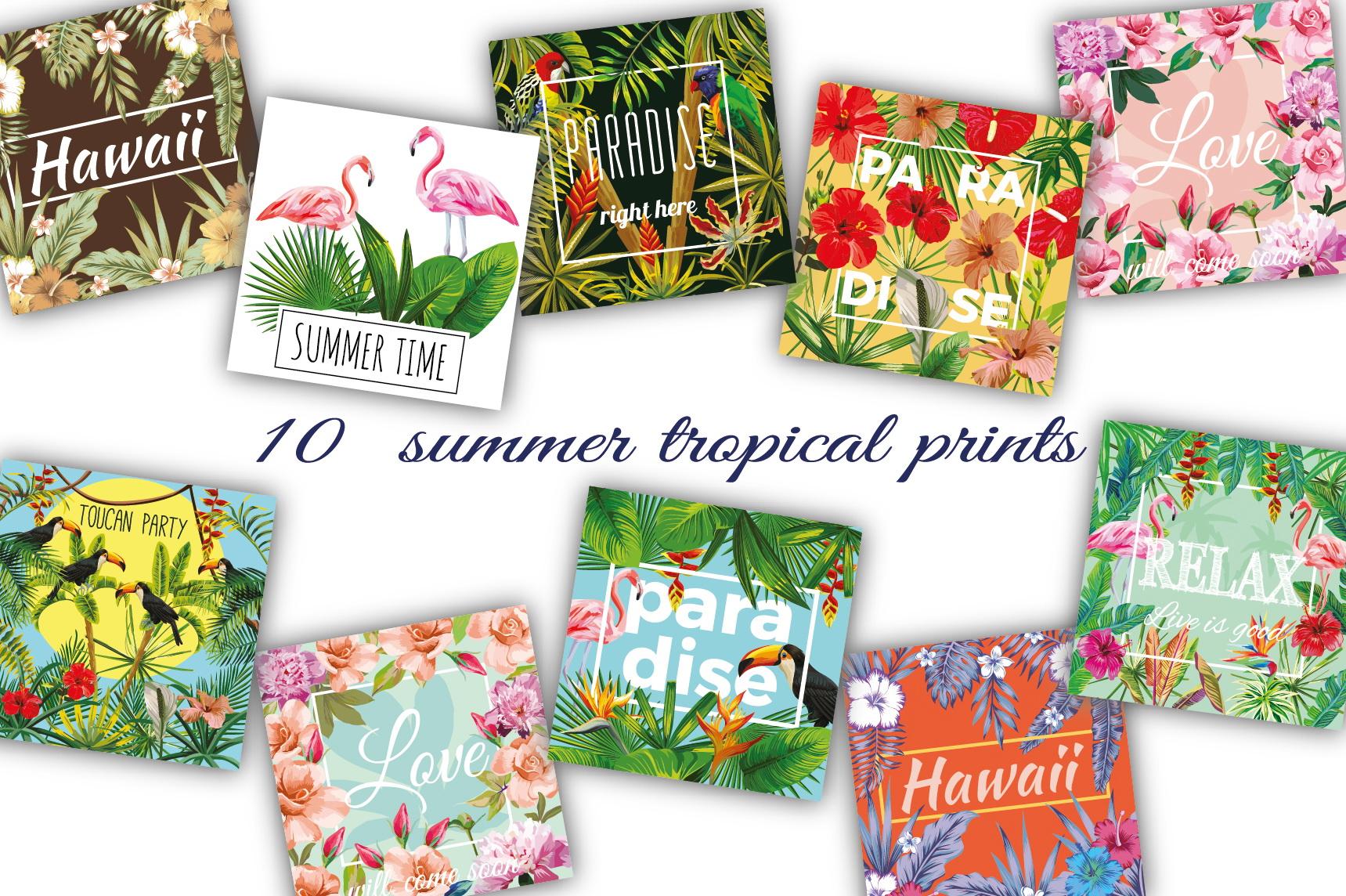 Summer slogan tropical prints example image 1