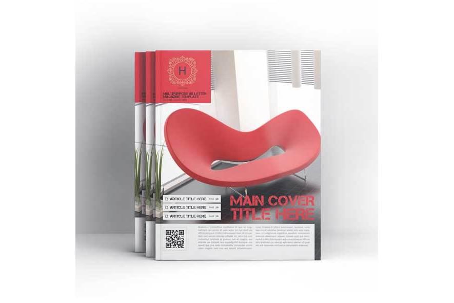 Multipurpose US Letter Magazine Template example image 4