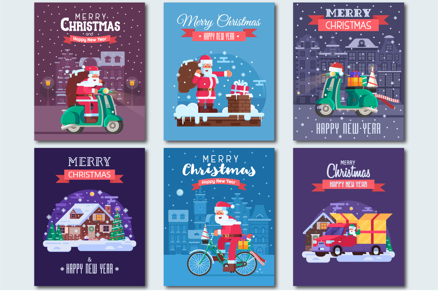 Santa Delivery Service Cards and Scenes example image 3