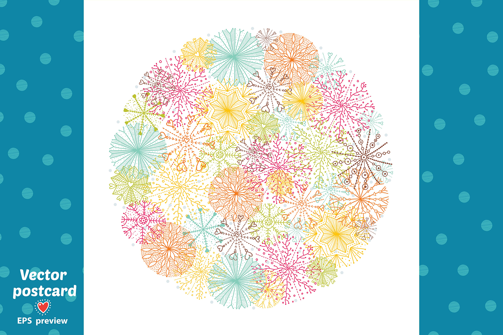 Snowflakes.Winter pattern. example image 8