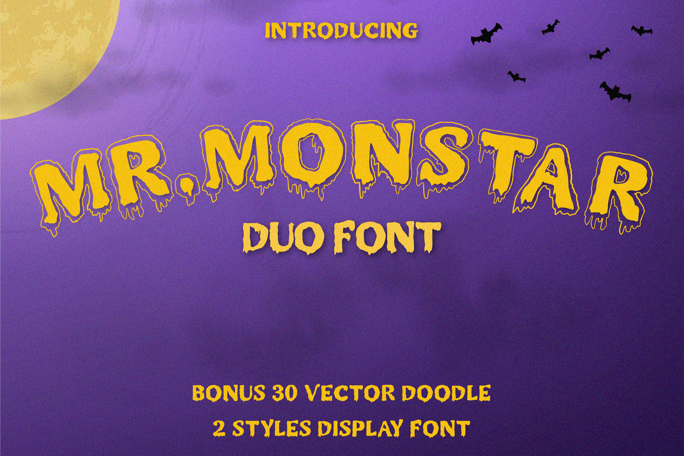 MR.MONSTAR Duo Font & Extras example image 1