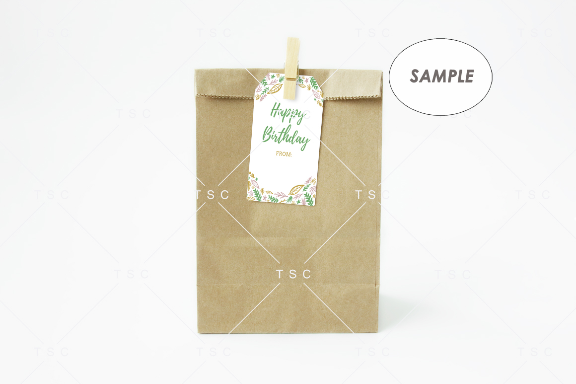 Goodie Bag Tag / Label Mockup example image 3