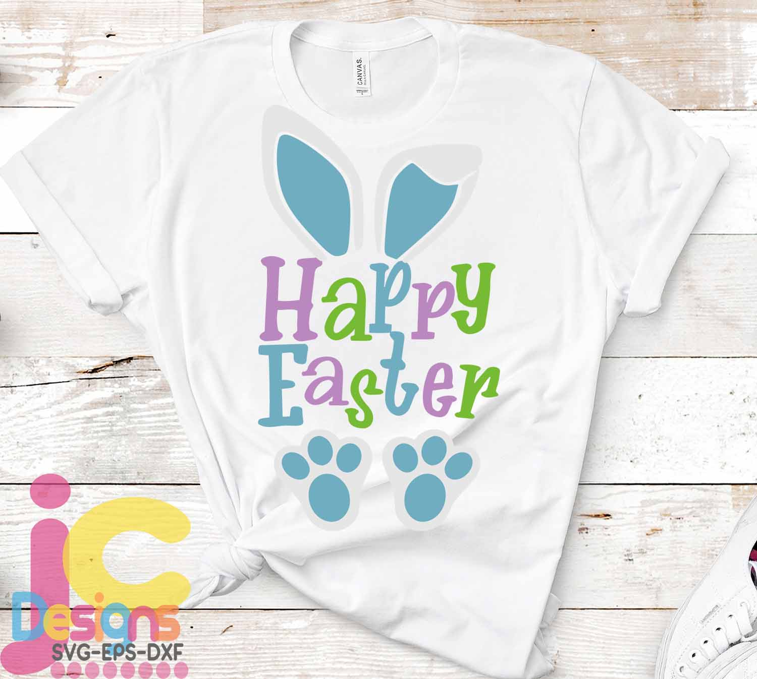 Happy Easter SVG, Easter SVG, Bunny ears Spring svg example image 2