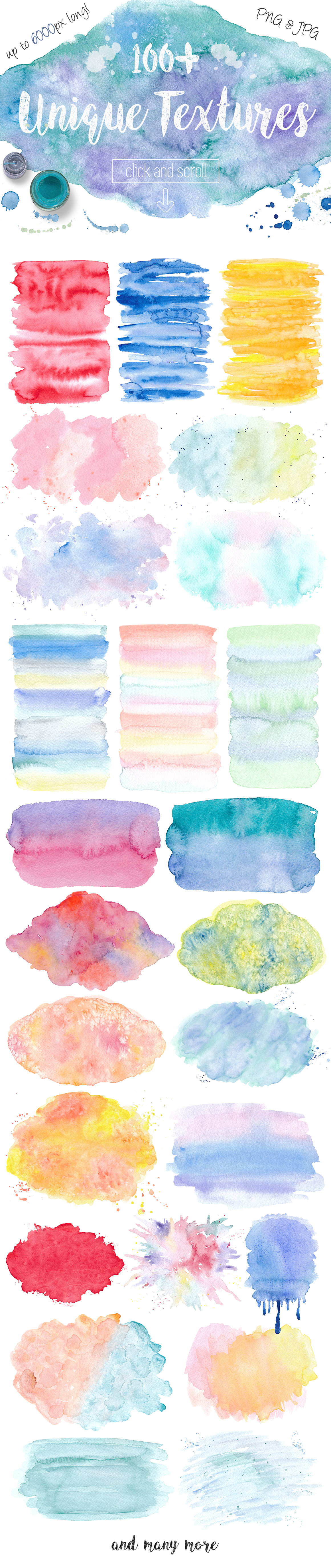 Watercolor Textures. Light & Bright example image 4
