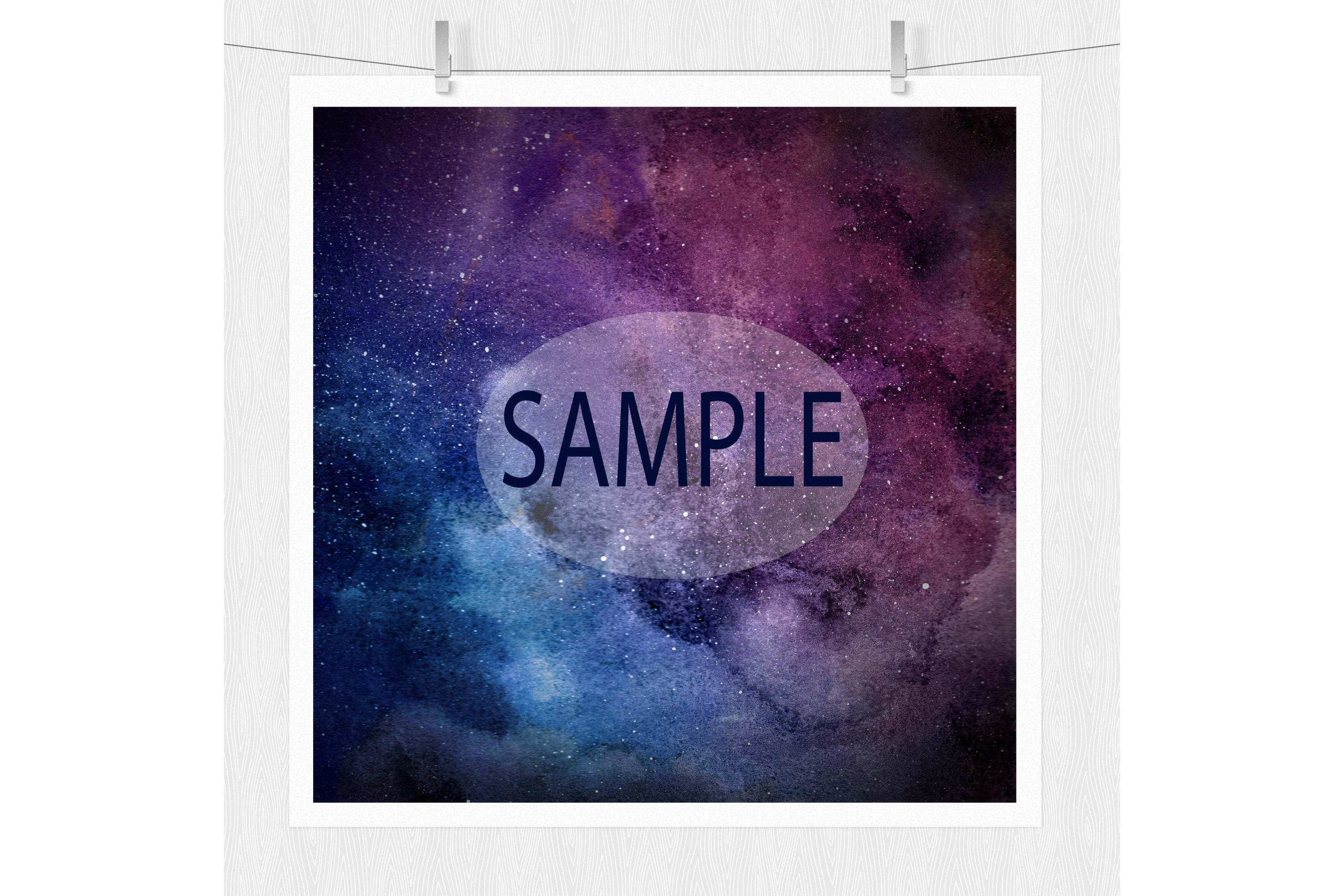 Watercolor Galaxy Digital Prints - Digital Papers example image 6