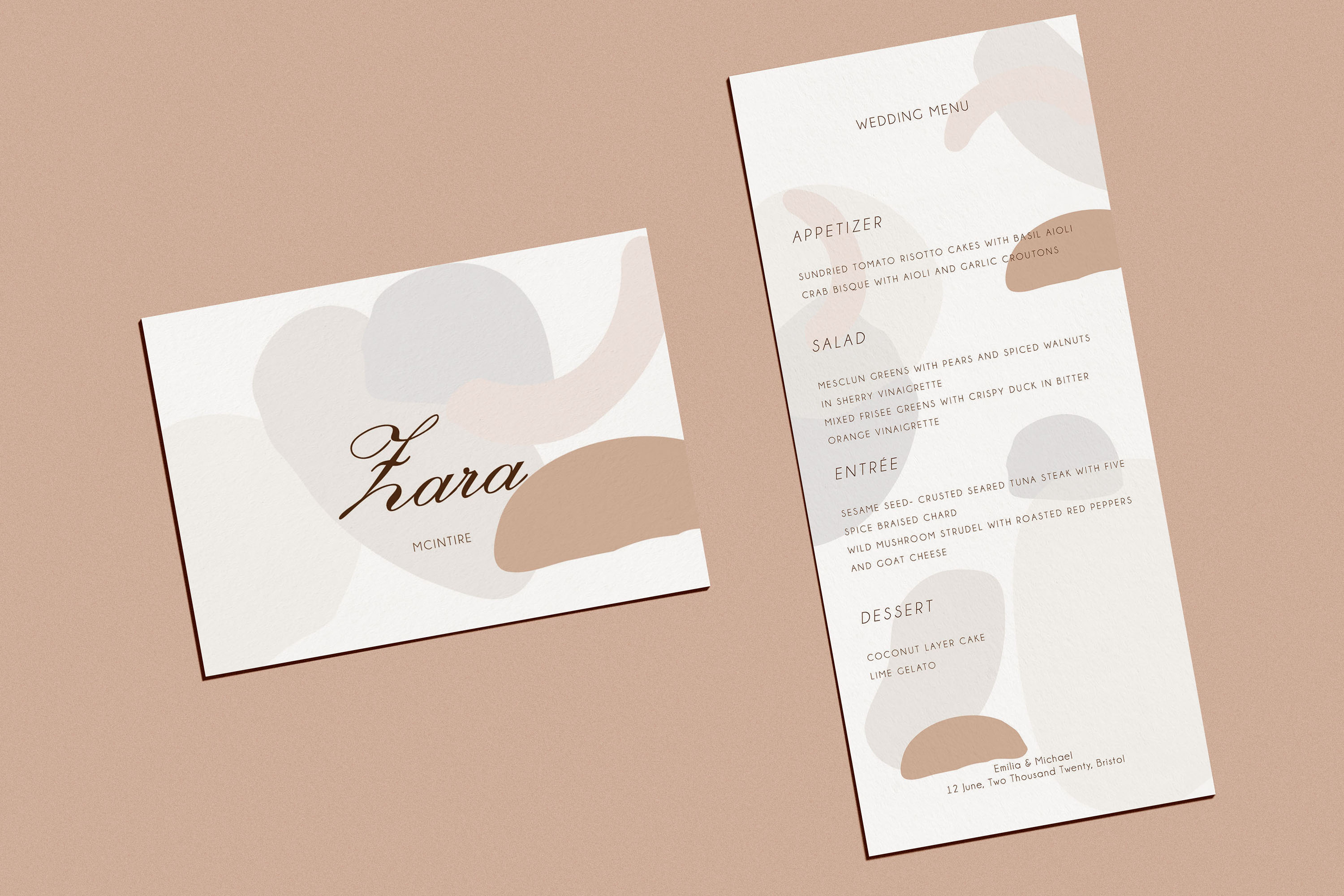 Abstract style Wedding Invitation Suite example image 5