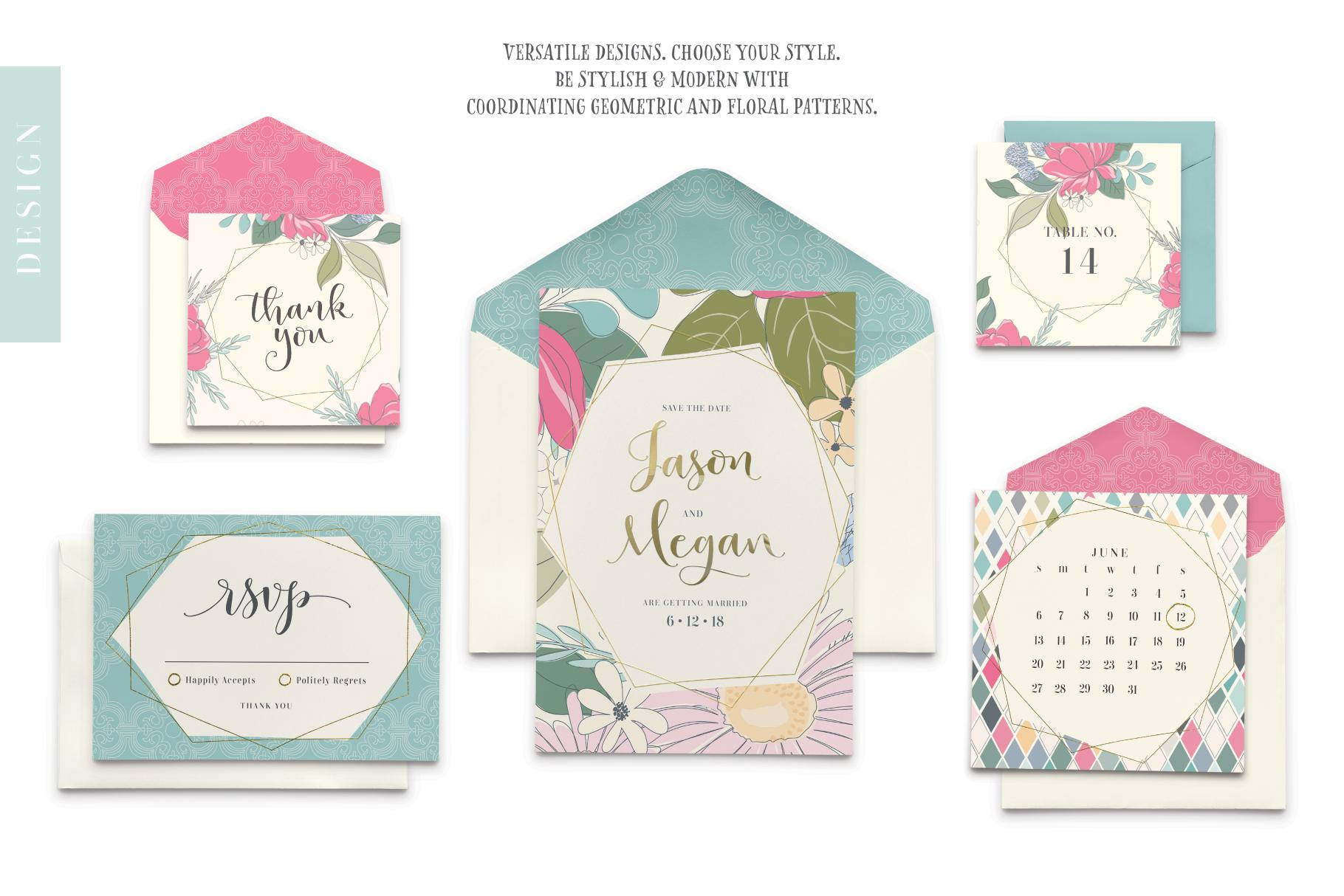 Floral Pattern Design Set example image 6