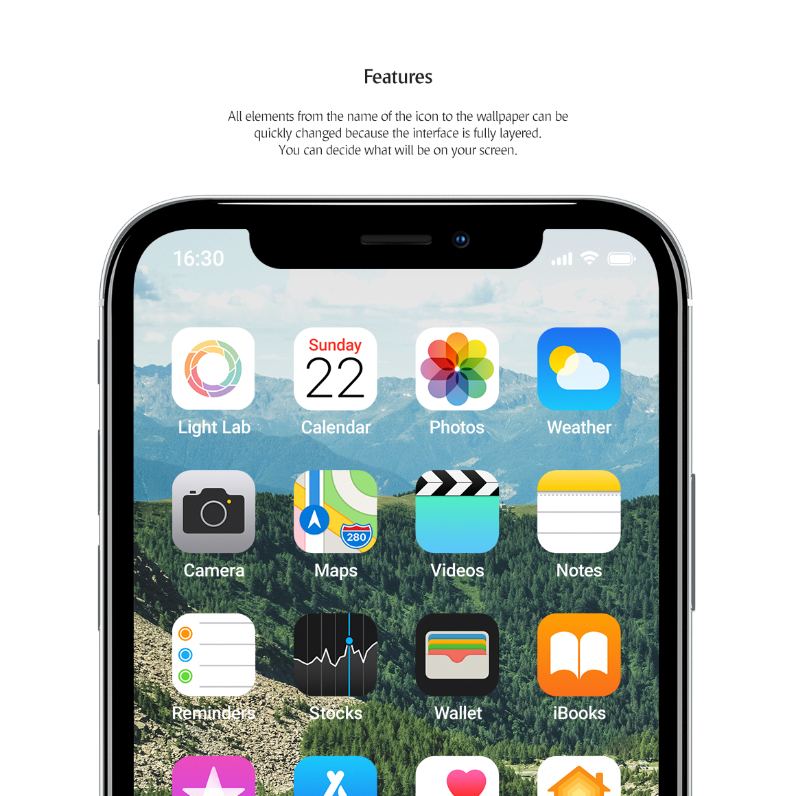 Phone App Mockups Set example image 2