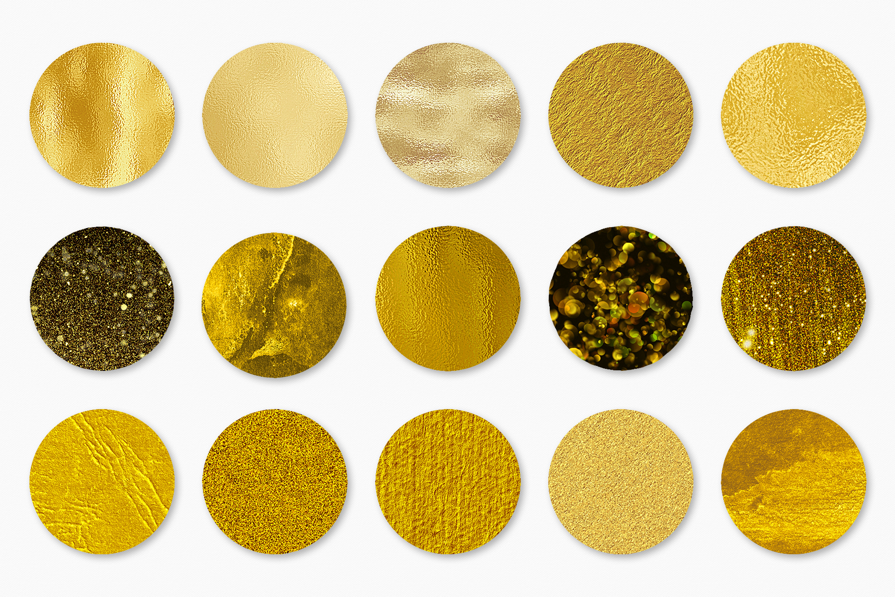 Gold Foil and Glitter Textures - Metallic Digital Papers example image 10