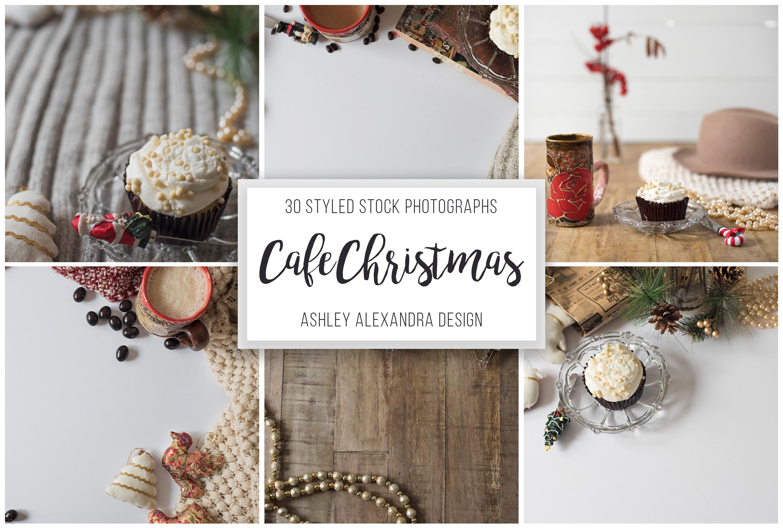 Cozy Cafe Christmas Photo Bundle example image 3