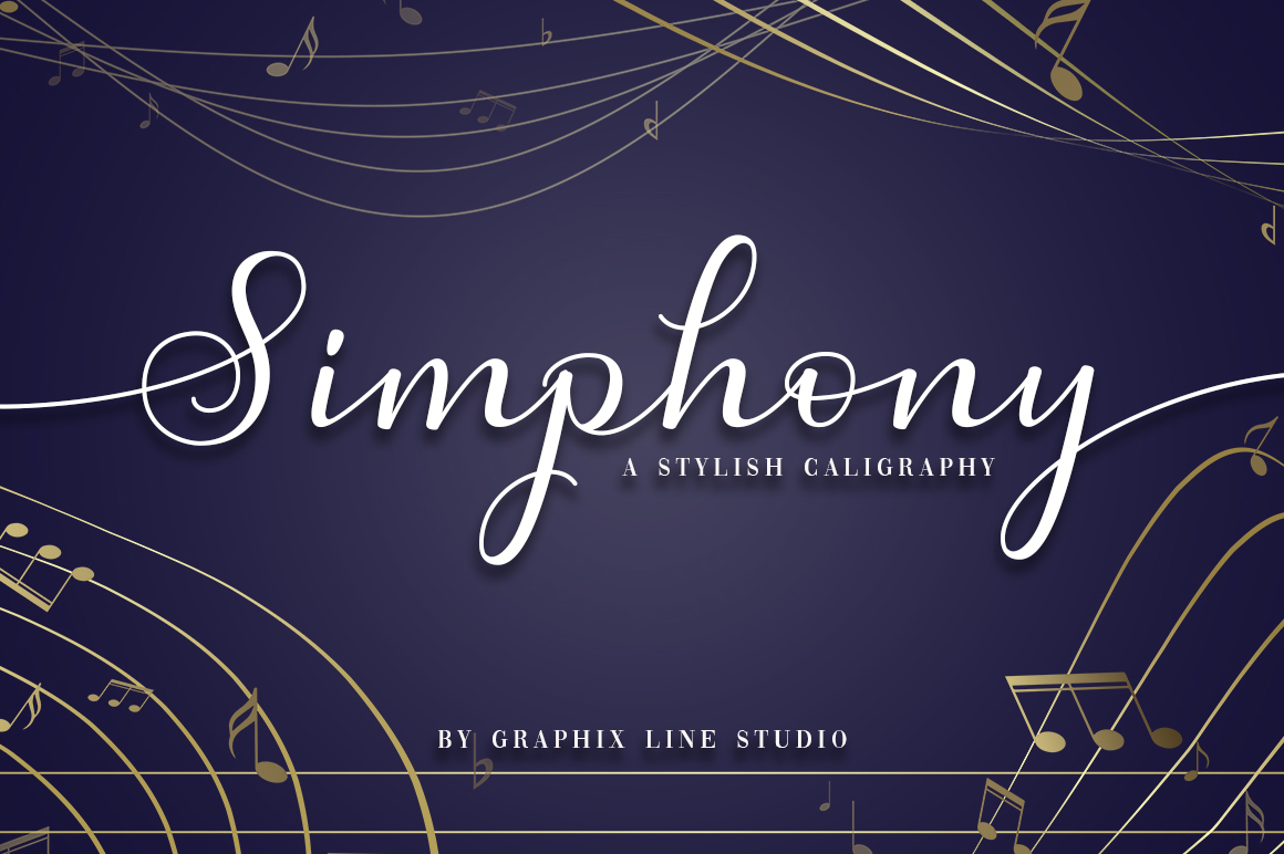 Simphony Caligraphy Font example image 1