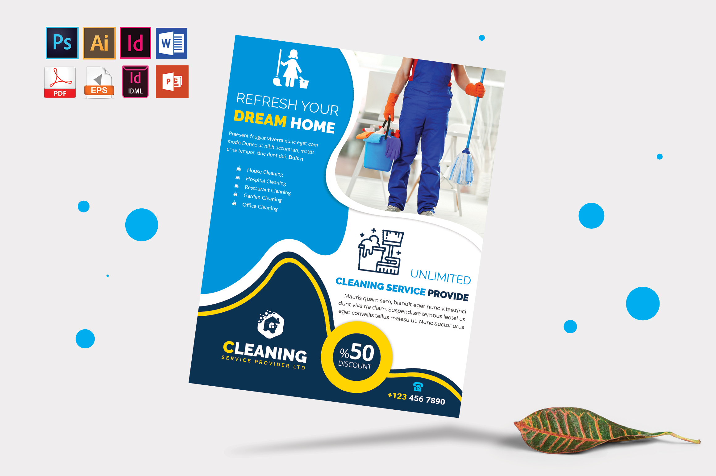 Cleaning Service Flyer Vol-05 example image 3