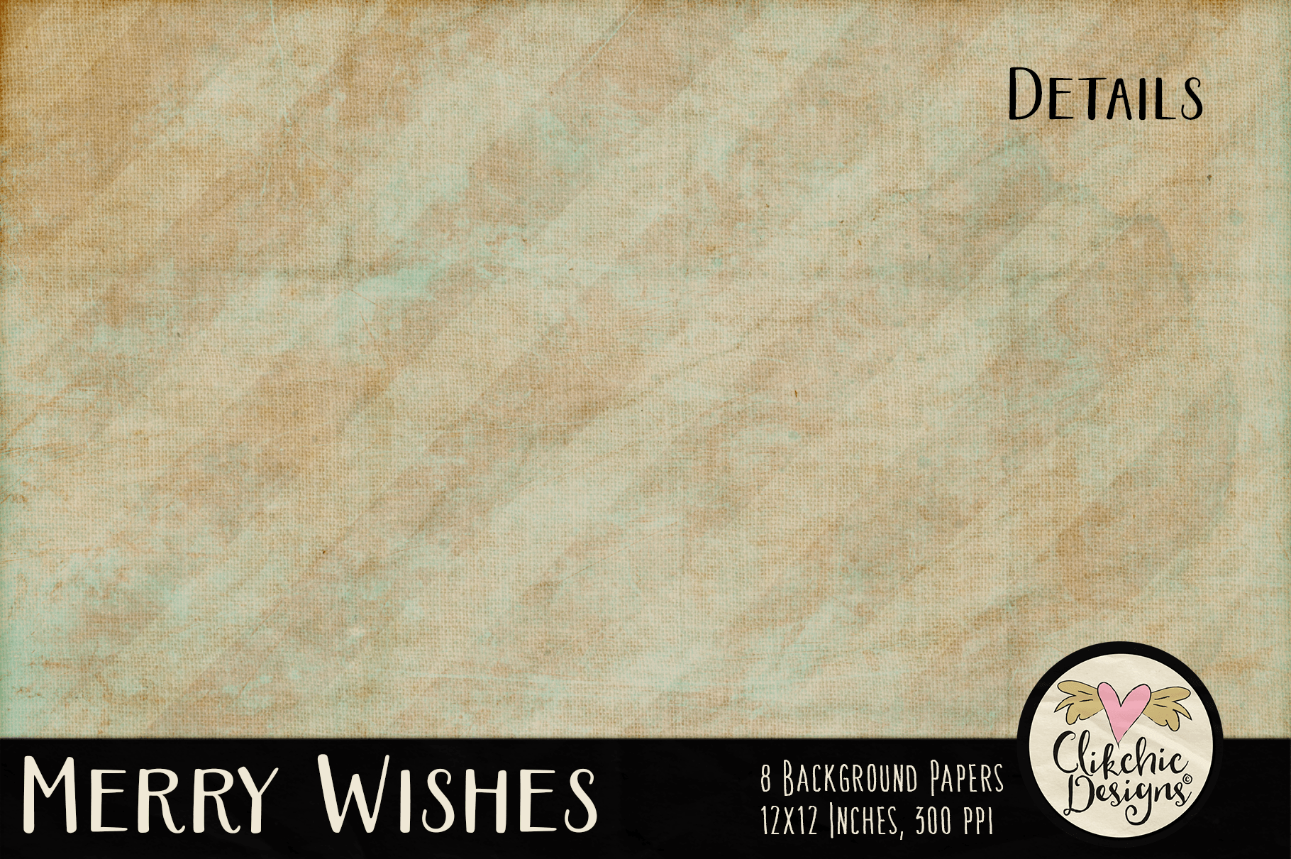 Christmas Backgrounds - Merry Wishes Digital Papers Textures example image 5