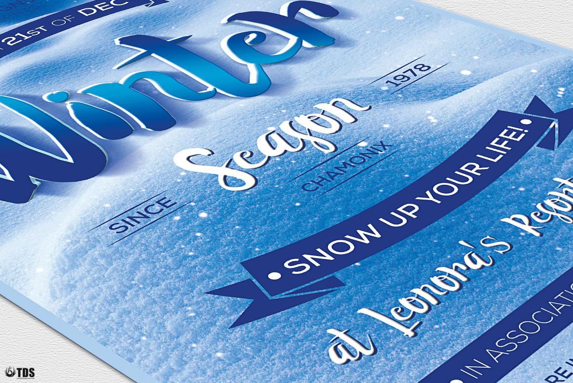 Winter Season Flyer Template V4 example image 6
