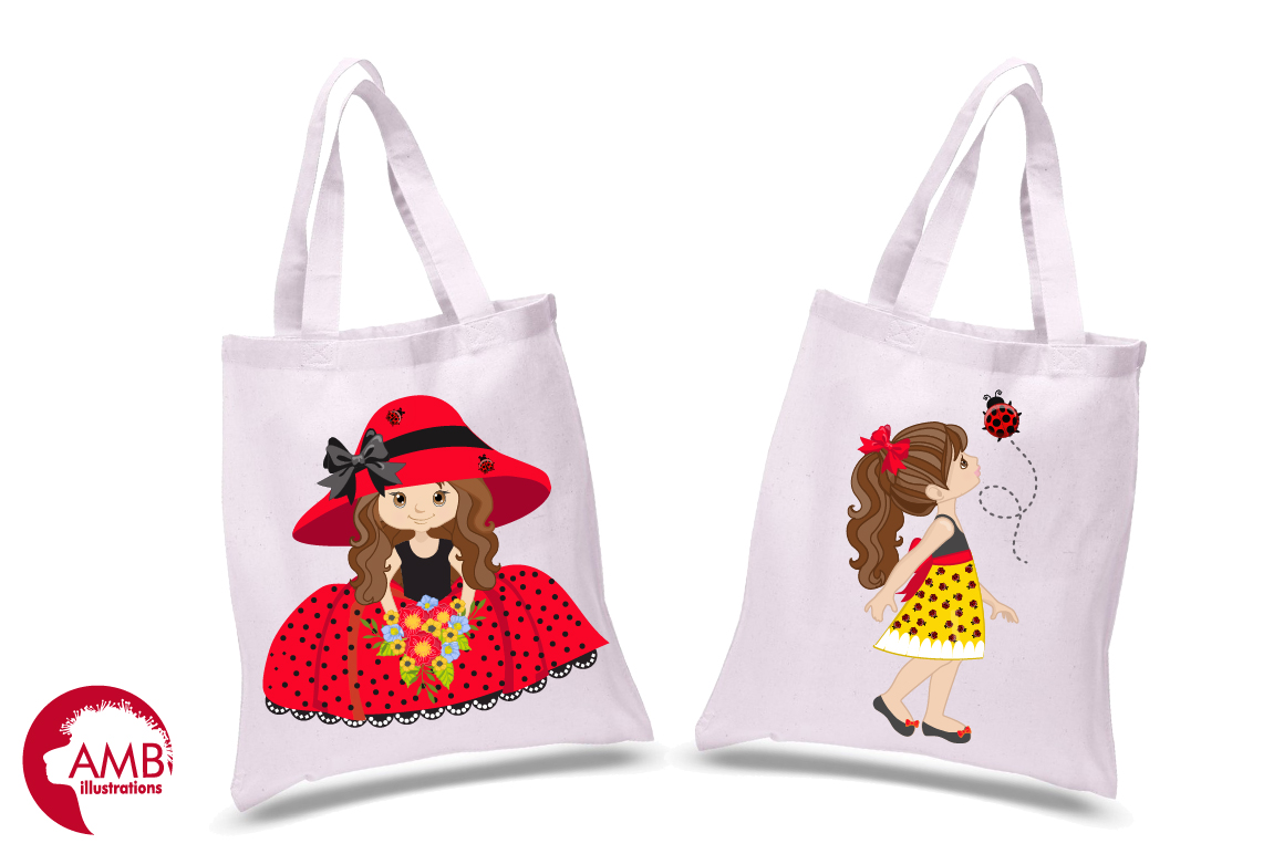 Sweet little ladies graphics, clipart, illustrations AMB-1056 example image 2
