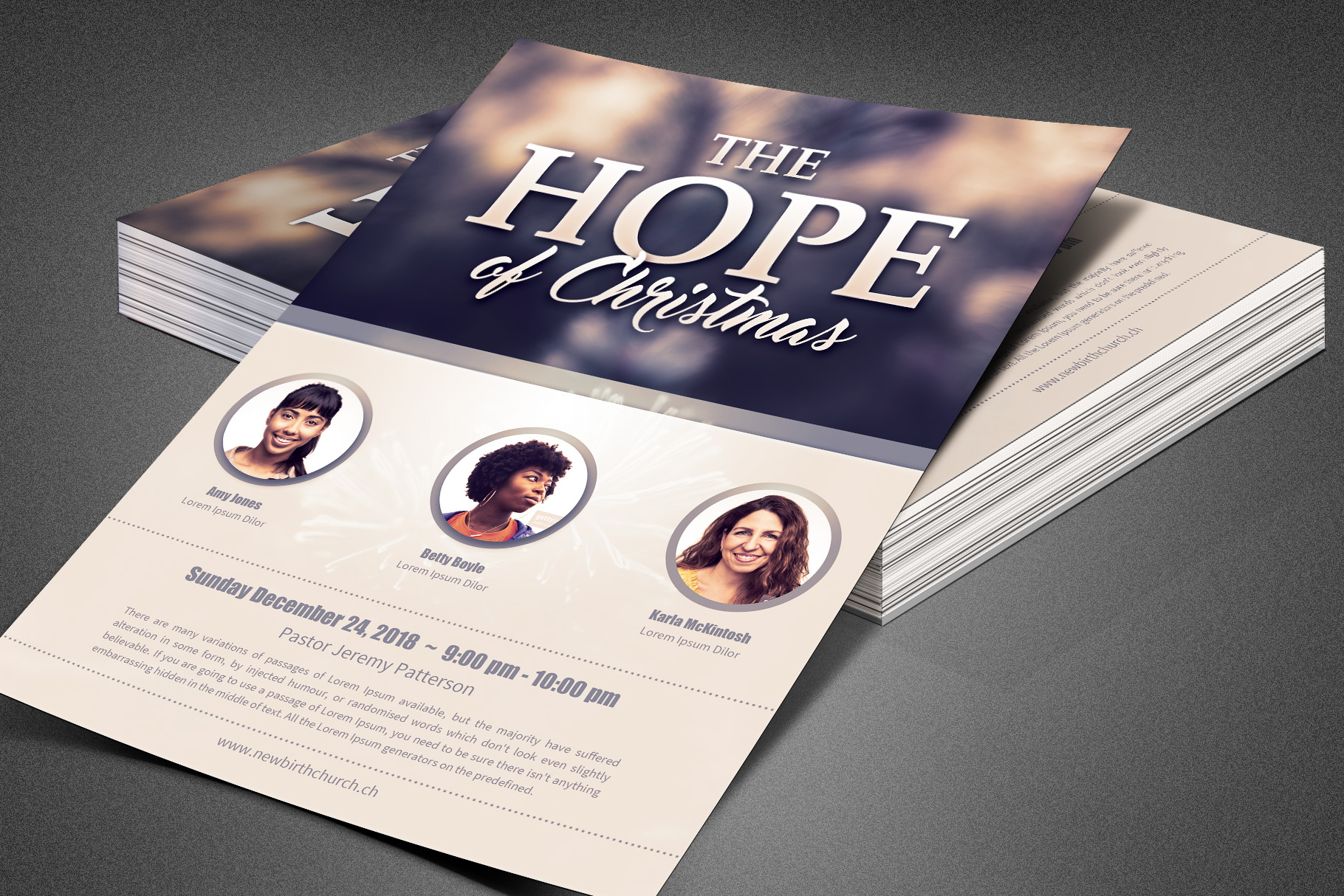The Hope of Christmas Church Flyer example image 6
