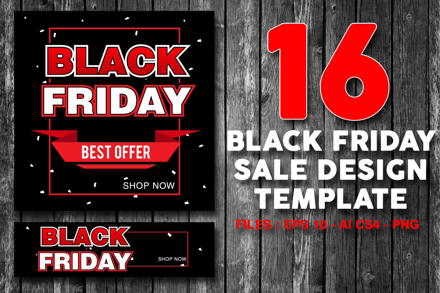 16 Black Friday Sale Banner for online shop, store example image 1