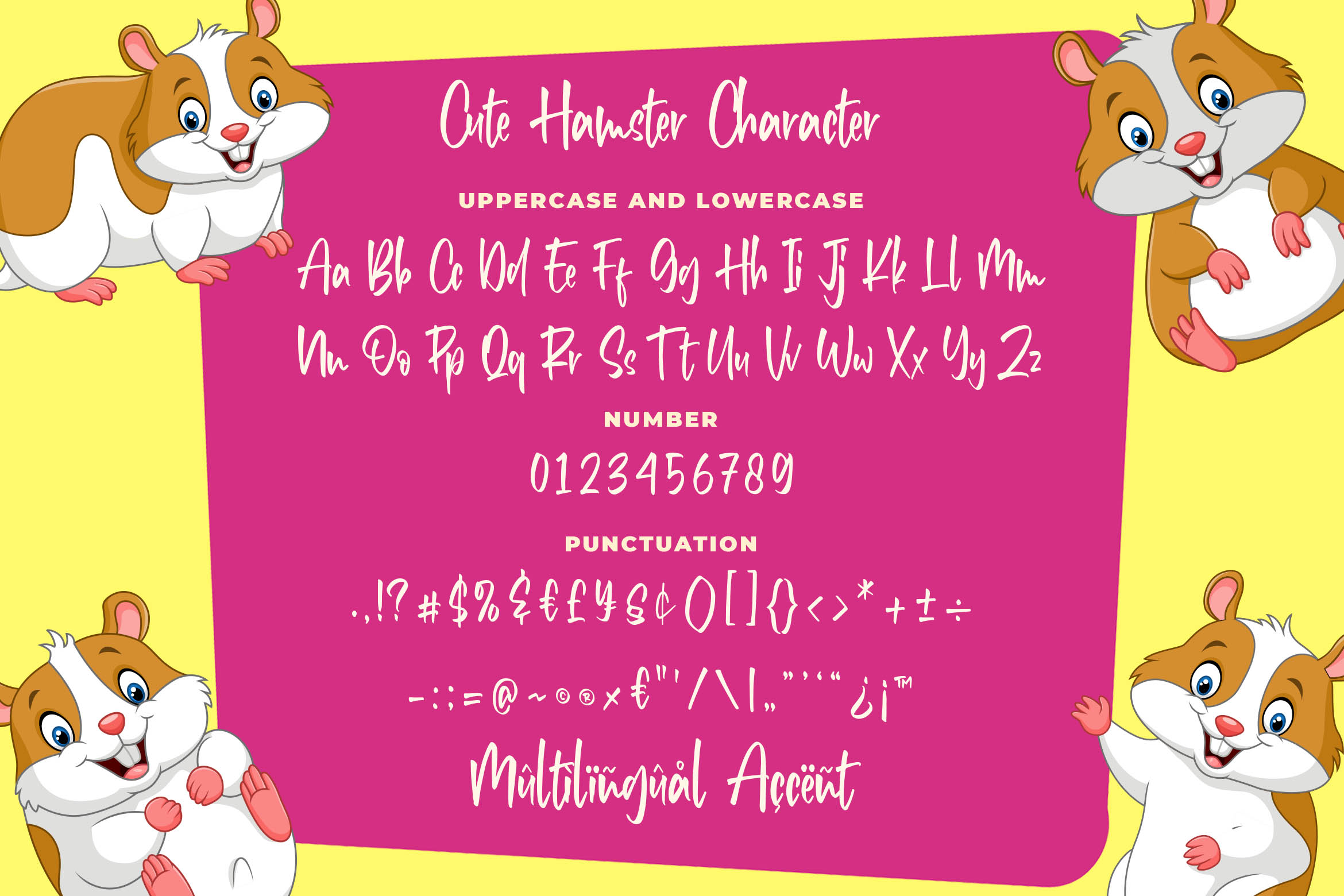 Cute Hamster - Playful Font example image 5