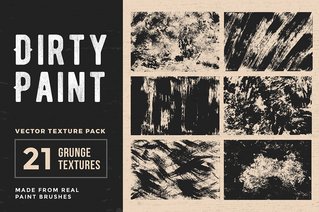Dirty Paint – Vector Texture Pack example image 1