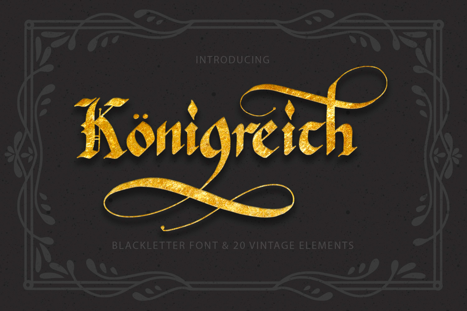 Konigreich Font example image 1