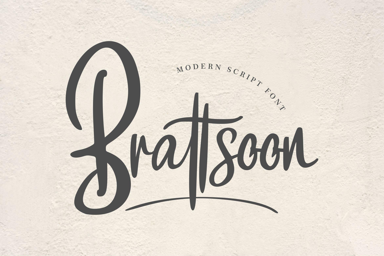 Brattsoon | Modern Script Font example image 1