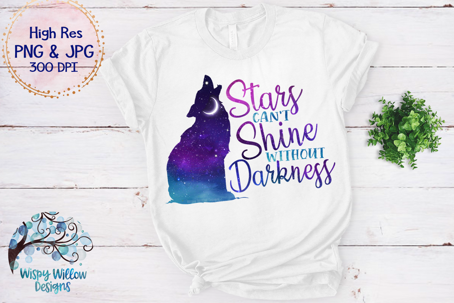 Stars Can't Shine Without Darkness PNG   Galaxy Sky Wolf PNG example image 3