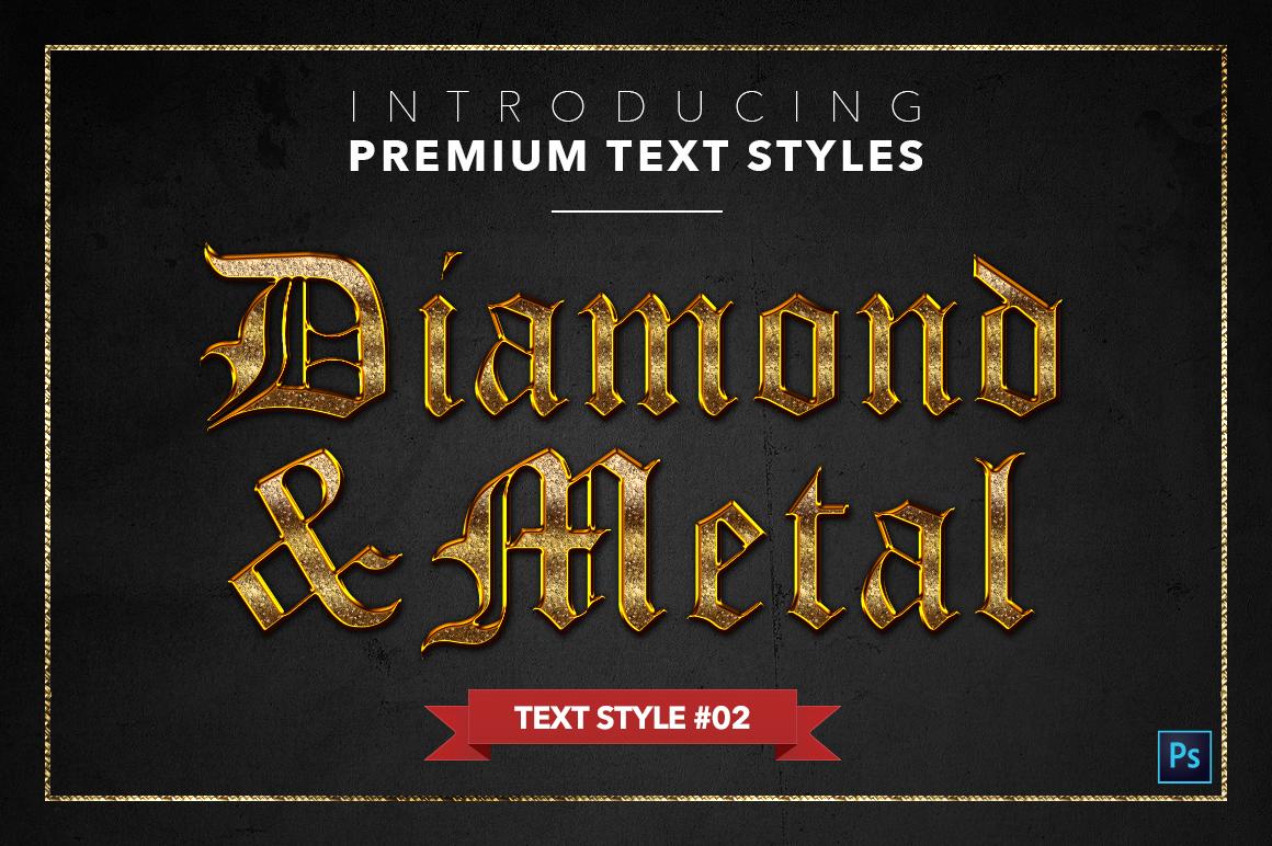 Diamond & Metal #1 - 15 Text Styles example image 3