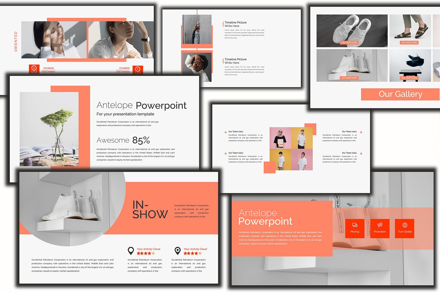 Antelope Lookbook Keynote Template example image 4