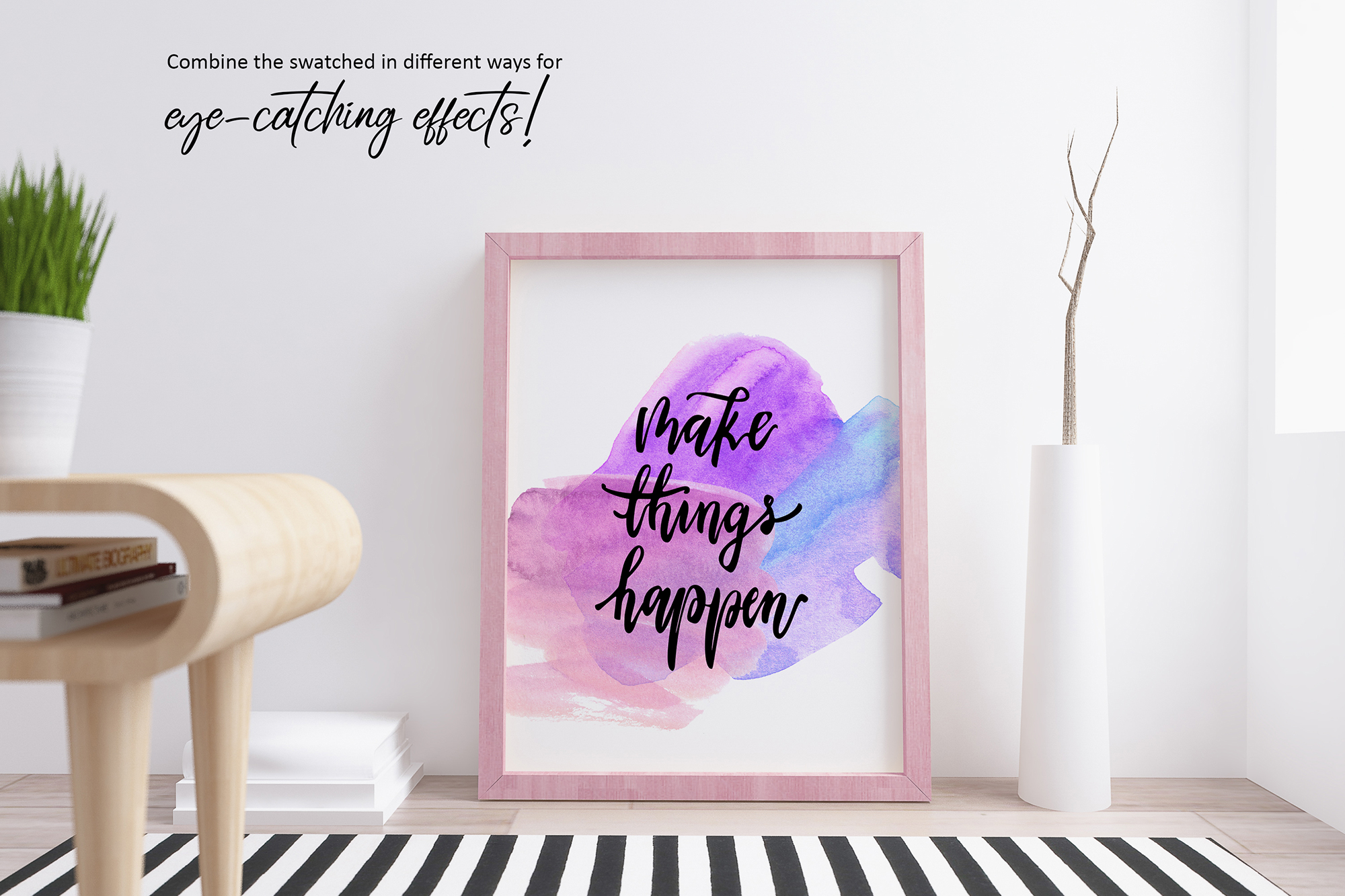 Girl Boss Hand lettered Quote & Extras! example image 7