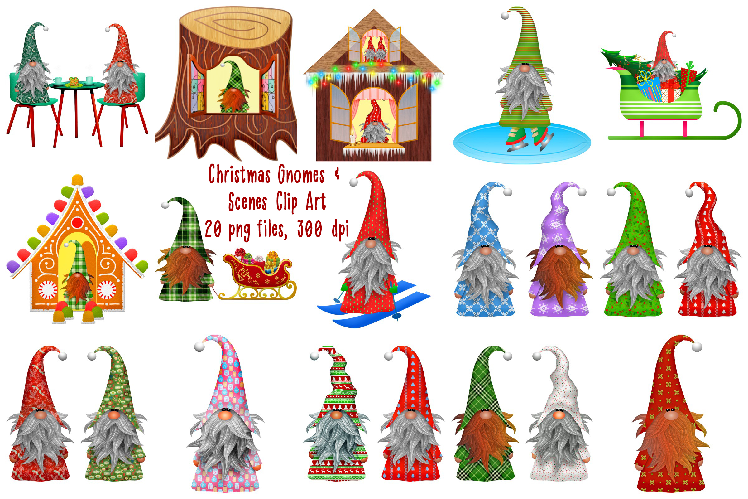 Christmas Gnomes Clipart.Christmas Gnome Scandia Clip Art