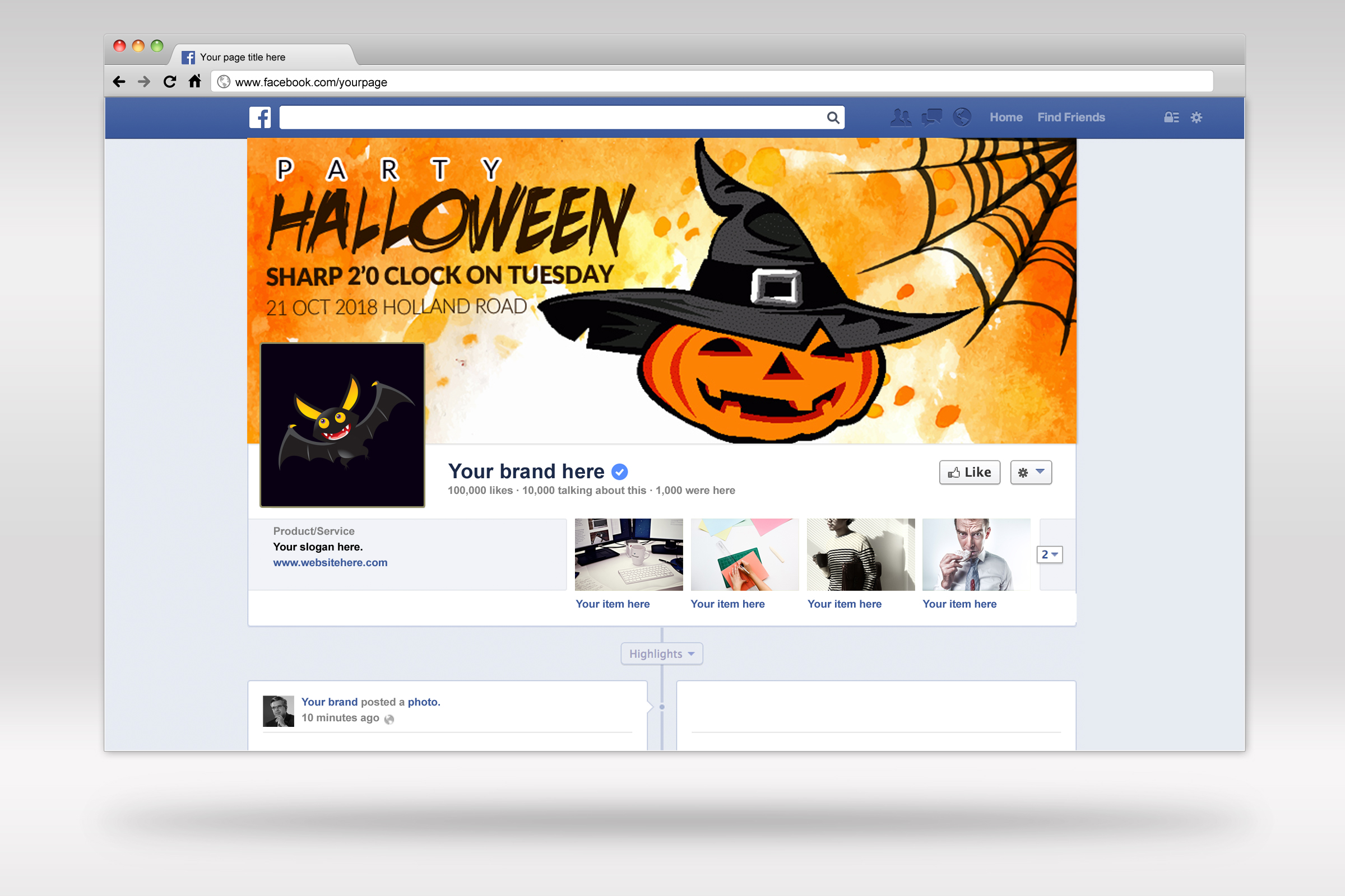 Halloween Party Facebook Timeline Cover example image 2