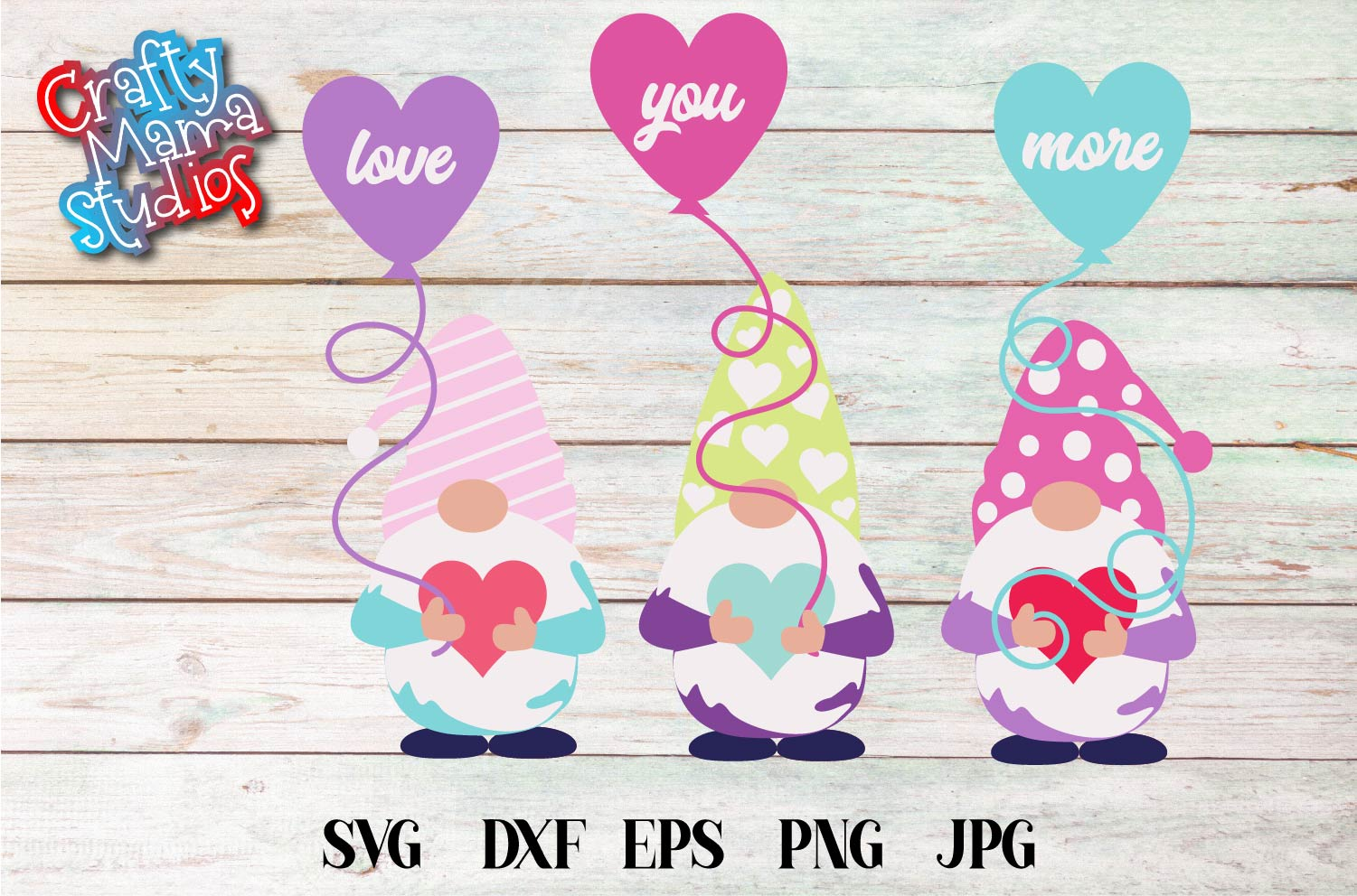 Valentine's Day SVG Valentine Gnome Love You More SVG example image 2