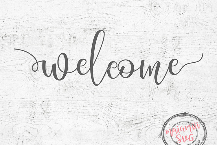 Welcome Svg, Front Door Svg, Wood Sign Svg example image 1