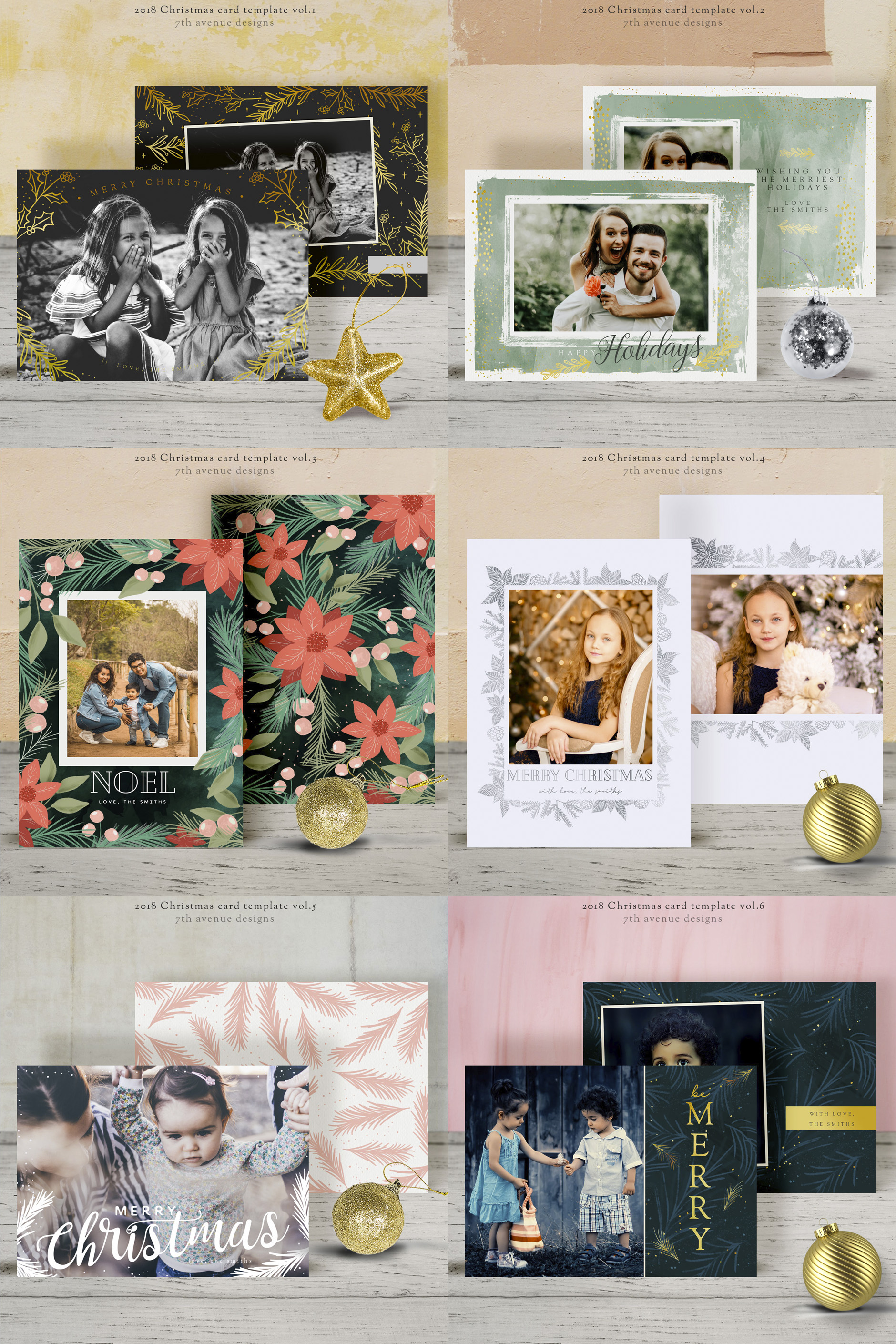 Christmas Card Templates v.3 example image 2