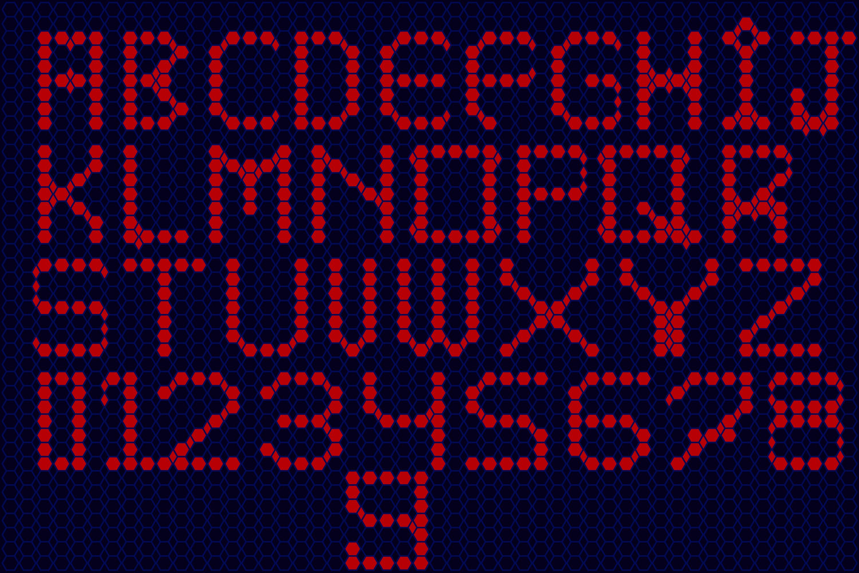 Hexa beads - A Fun Pixel Font example image 2