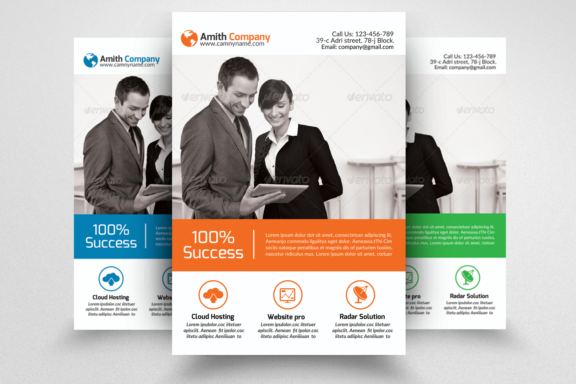 6 Corporate Business Flyers Bundle example image 4