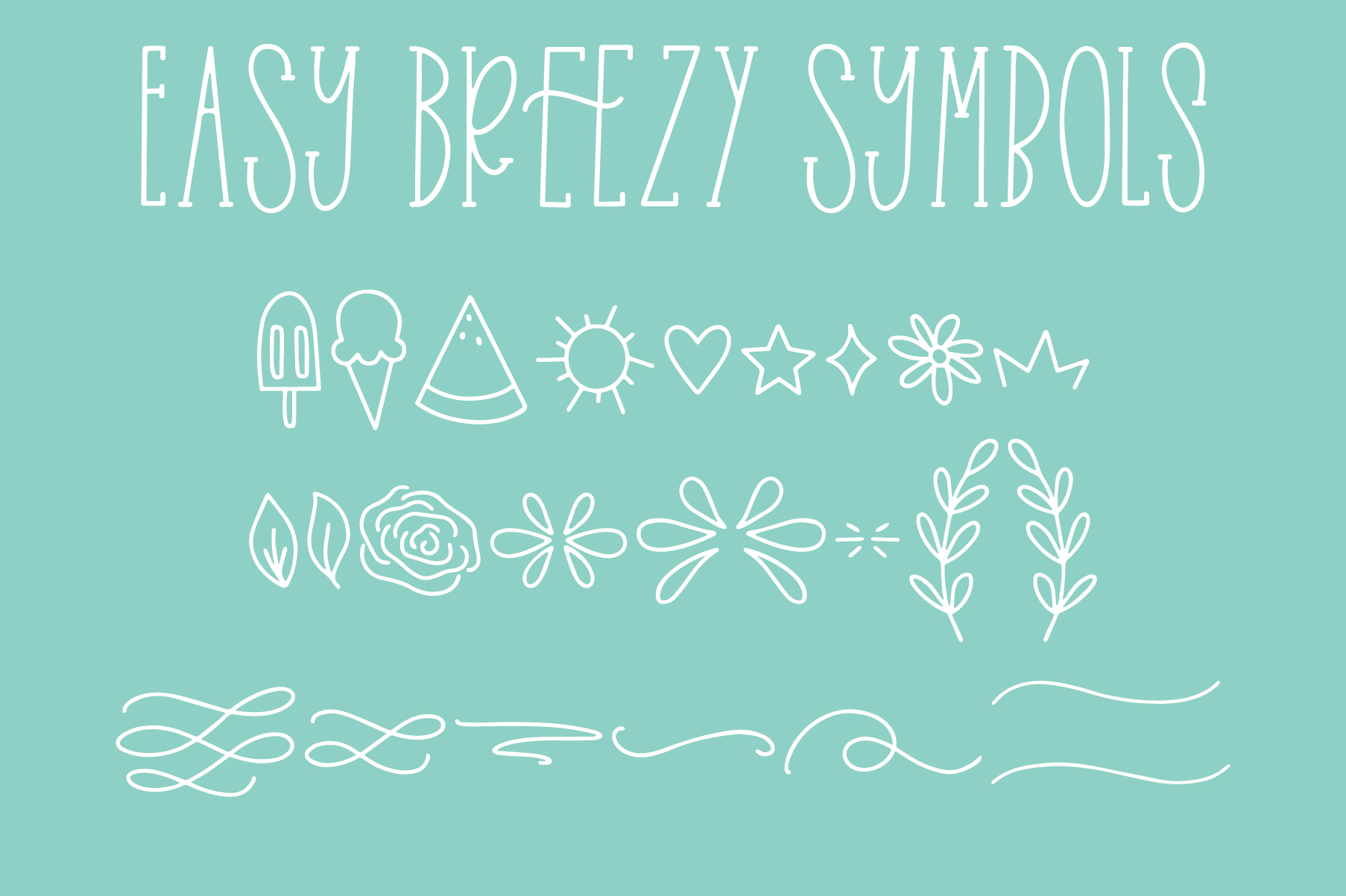 Easy Breezy, Sans Serif Doodle, Hand Lettered Font Trio example image 15