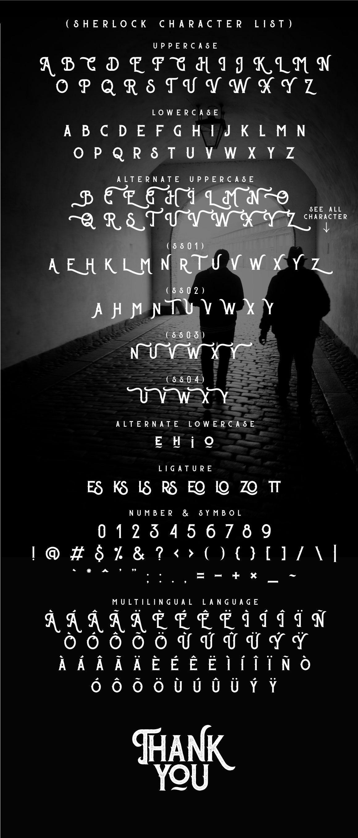 Sherlock Typeface - 3 Font Styles example image 5