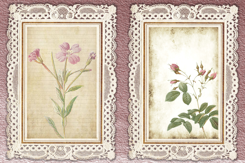 Journaling Kit Pink Botanicals with free ephemera & clipart example image 6