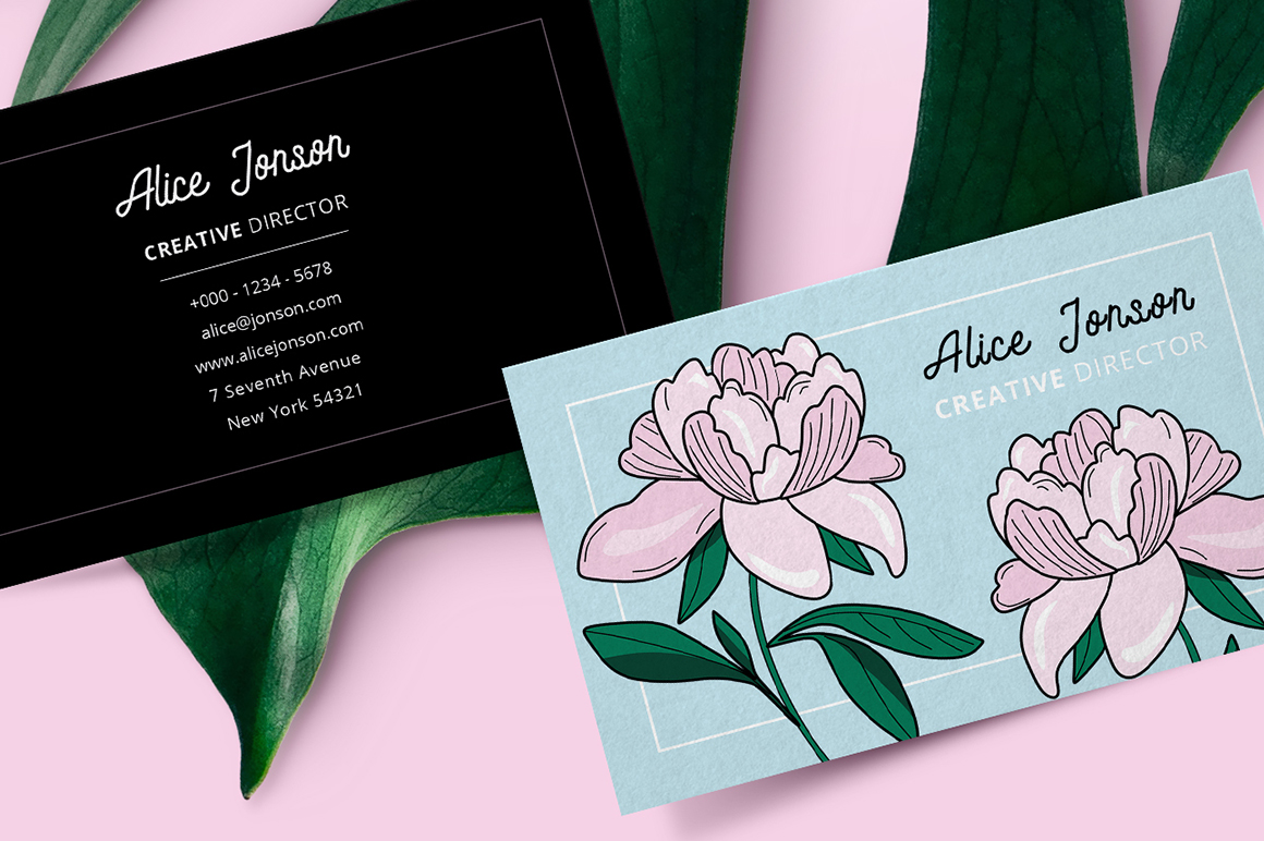 Botanical Business Card example image 2